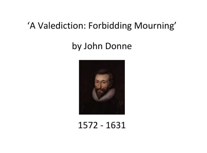 John Donne - Valediction Forbidding Mourning