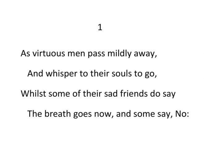 John Donne - Valediction Forbidding Mourning - Stanza 1