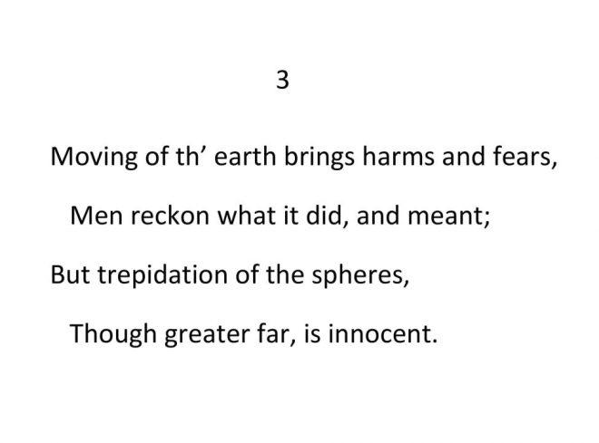 John Donne - Valediction Forbidding Mourning - Stanza 3