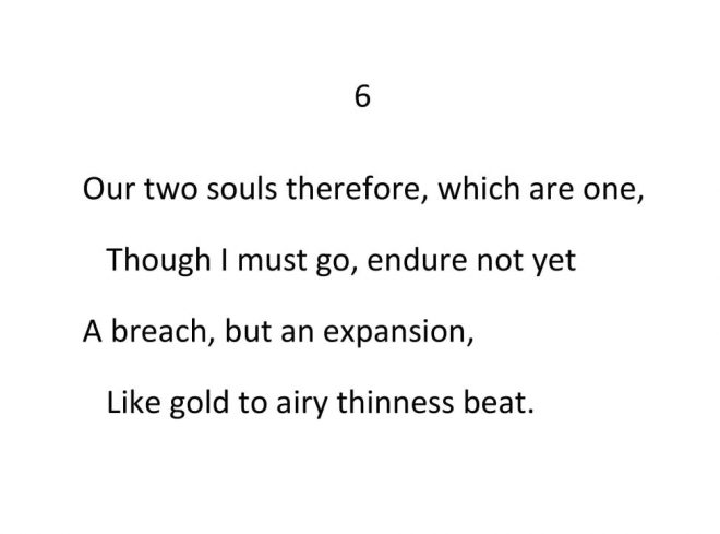 John Donne - Valediction Forbidding Mourning - Stanza 6