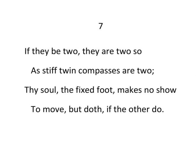 John Donne - Valediction Forbidding Mourning - Stanza 7