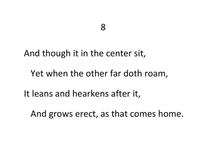 John Donne - Valediction Forbidding Mourning - Stanza 8